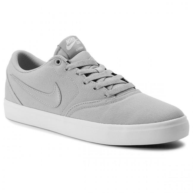 Shoes NIKE - Sb Check Solar Cnvs 843896 018 Atmosphere Grey