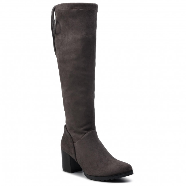 Knee High Boots CAPRICE - 9-25606-23 Dk Grey Stretc 250