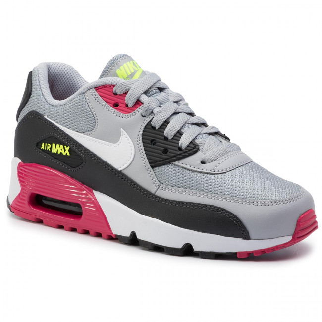 Shoes NIKE Air Max 90 Mesh (Gs) 833418 027 Wolf GreyWhite