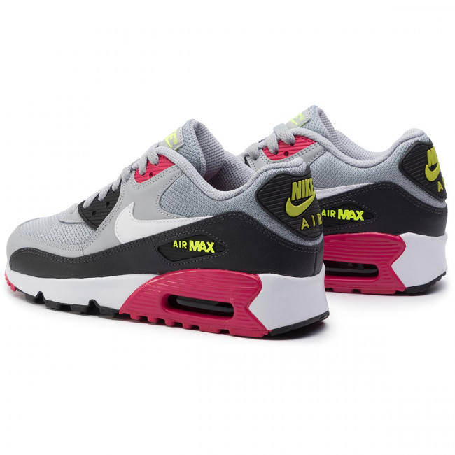 Nike Air Max 90 Mesh (GS) Youth White, Silver and Pink