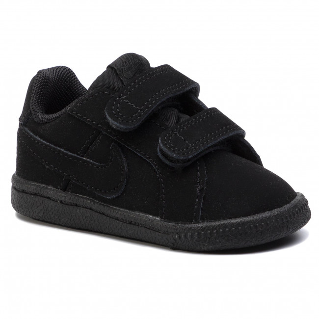 Shop Black Nike Court Royale Velcro Fastening Sneakers for Kids | NISNASS
