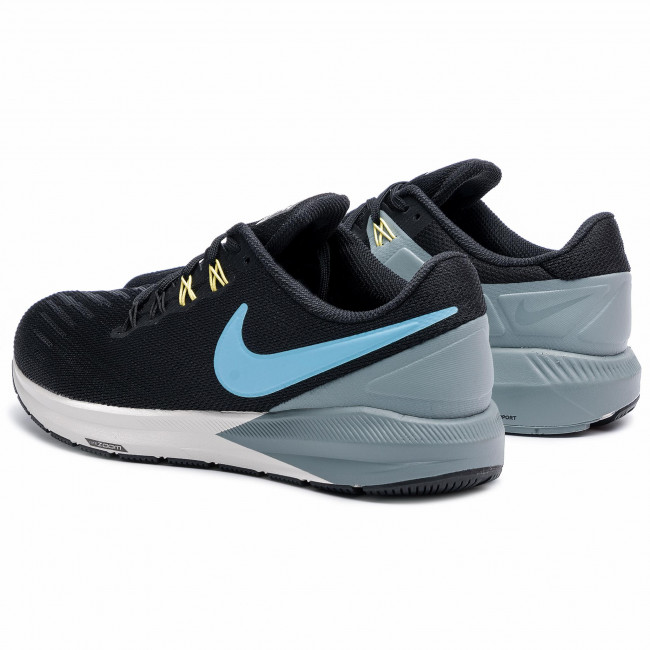Nike Air Zoom Structure 22 Black Blue Grey Men Running Shoes Sneakers AA1636-005