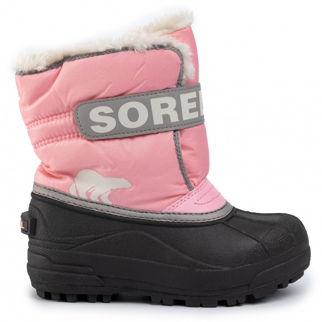 Waterproof Sorel Youth Flurry Boot for Rain and Snow Deep Blush Size 7