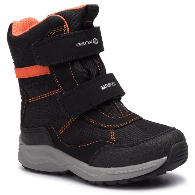 Geox ALASKA Children Unisex Boots Black NEW