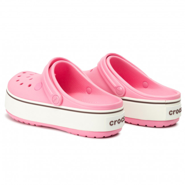 platform pink crocs