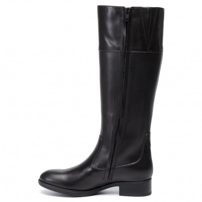 Knee High Boots Geox - D Felicity Np Abx B D94blb 05443 C9999 Black Knee-high And Others Women's Shoes
