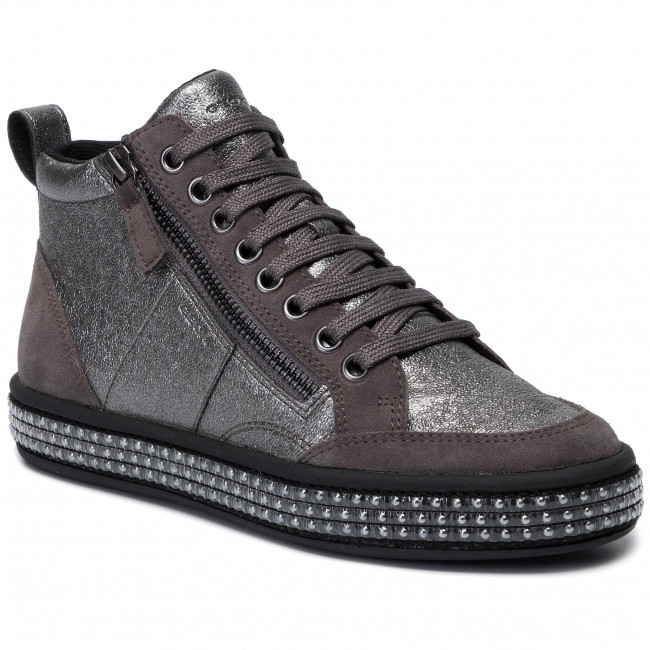 Sneakers GEOX - D Leelu' G D94FFG 06P22 C1G9F Gun/Dk Grey