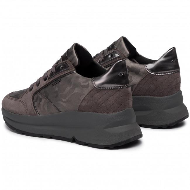 Sneakers GEOX D Backsie A D94FLA 06P22 C1G9F GunDk Grey
