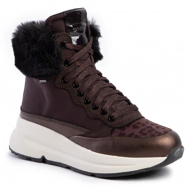 Sneakers GEOX D Backsie B Abx A D94FPA 01122 C6T6M Dk CoffeeCoffee
