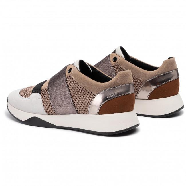 Sneakers GEOX D Suzzie D D94FRD 08823 C6535 TaupeLt Brown Sel4t