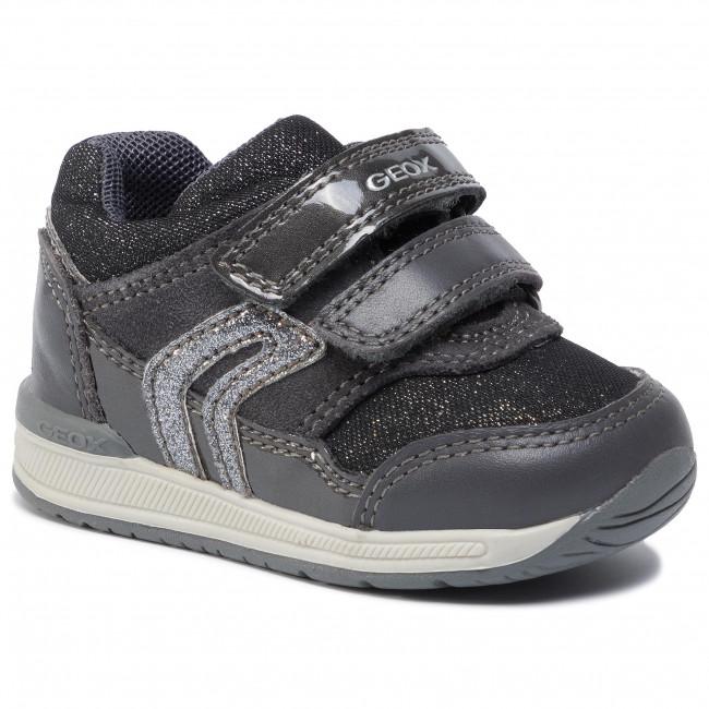 Adaptar sonido crisis  Sneakers GEOX - B Rishon G. A B840LA 085AS C9004 Anthracite - Velcro - Low  shoes - Girl - Kids' shoes   efootwear.eu