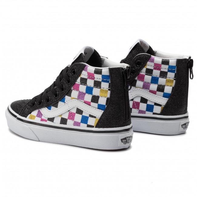 Sneakers VANS Sk8 Hi Zip VN0A4BUXV3P1 (Glitter Chkrbr)Blktwht