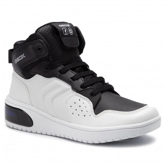 Sneakers GEOX - J Xled B. A J947QA 0BCBU C0404 D White/Black