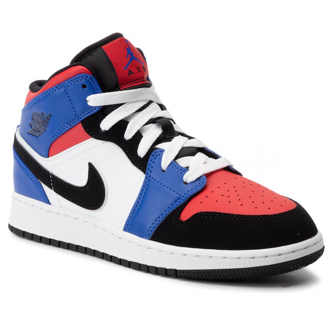 Tomar un riesgo rival becerro  Shoes NIKE - Air Jordan 1 Mid (Gs) 554725 124 White/Black/Hyper Royal -  Laced shoes - Low shoes - Boy - Kids' shoes | efootwear.eu