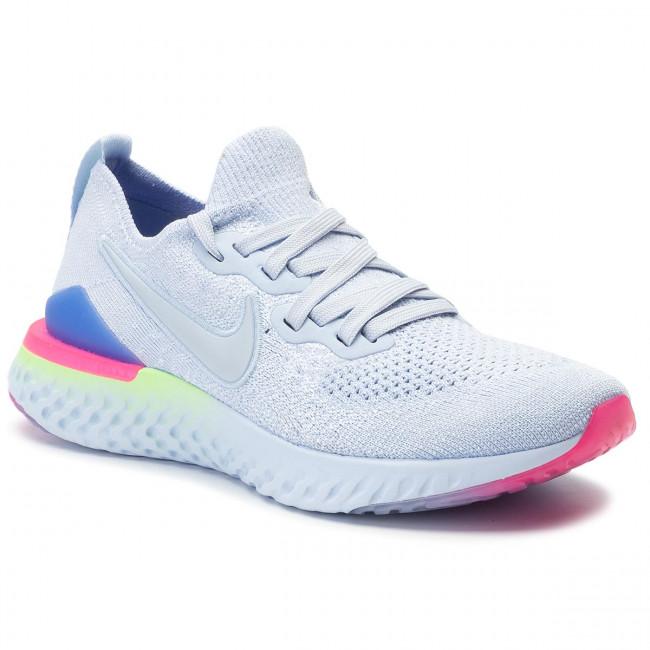 new concept 378bd d20da Shoes NIKE - Epic React Flyknit 2 BQ8927 453 Hydrogen Blue/Hydrogen Blue