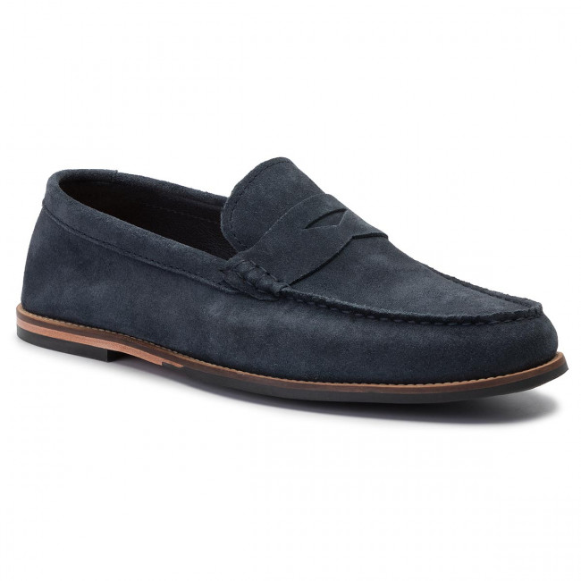 Moccasins CLARKS Whitley Free 261396117 Navy Sude