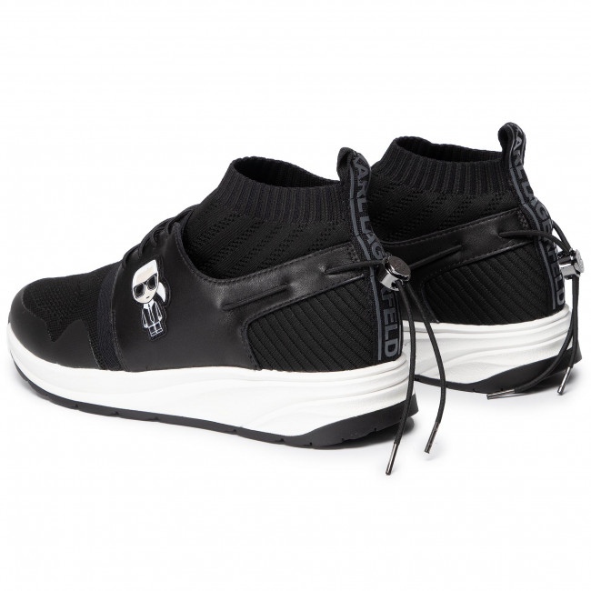 Sneakers KARL LAGERFELD KL51150 Black Lthr & Textile