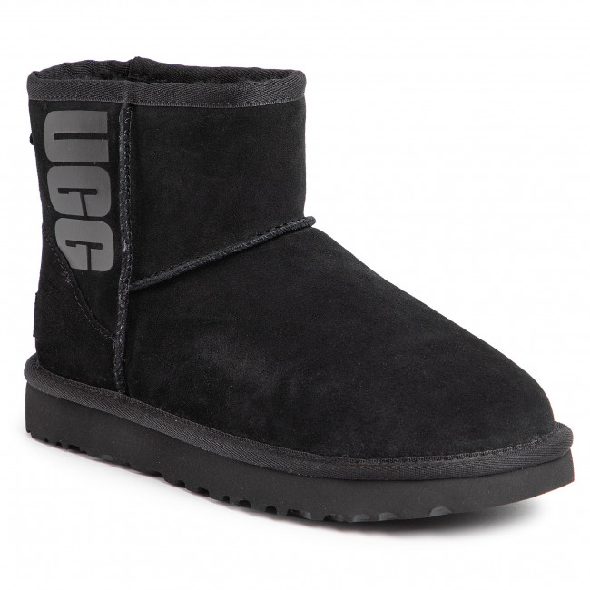 Shoes UGG - W Classic Mini Ugg Rubber Logo 1108231 W/Blk