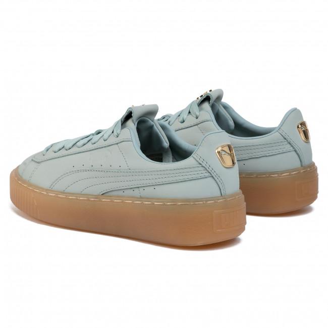 Sneakers PUMA - Platform Premium Logo Wn's 36992102 02 Gray Mist/Puma Team Gold