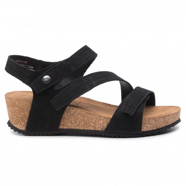Sandals TAMARIS 1 28381 22 Black Nubuc 009