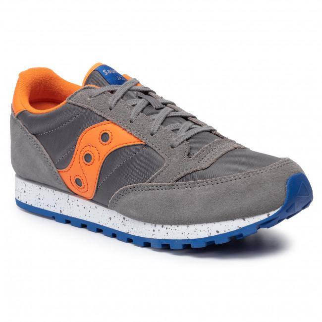 2018 shoes wholesale dealer performance sportswear Sneakers SAUCONY - Jazz Original SK261576 Grey/Orange/Blue - Laced ...