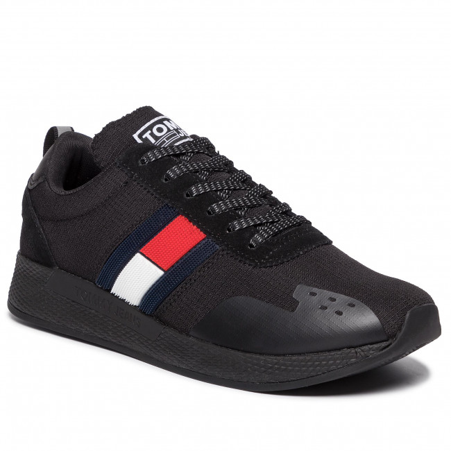 sneakers for cheap fb6be c0acf Sneakers TOMMY JEANS - Flag Flexi Tommy Jeans Sneaker EM0EM00331 Black 990