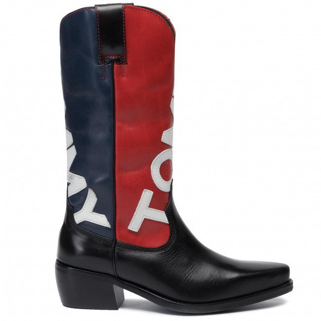 a1c3b4c5420 Boots TOMMY JEANS - Heritage Cowboy Boot EN0EN000621 Midnight