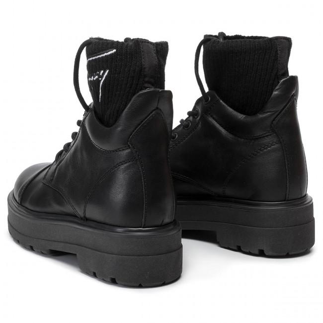 b8487d671a0 Hiking Boots TOMMY JEANS - Tommy Signature Flatform Boot EN0EN00678 Black  990