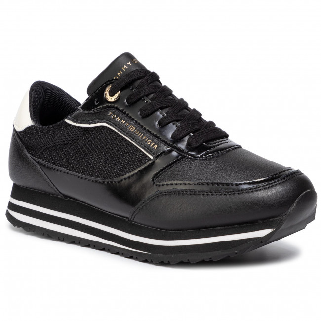 separation shoes 7c26b c5f55 Sneakers TOMMY HILFIGER - Tommy Retro Branded Sneaker FW0FW04305 Black 990