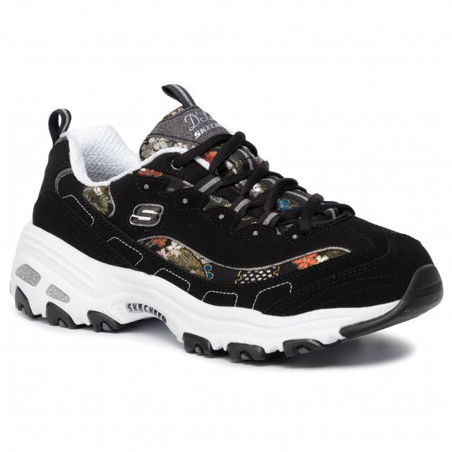Franco estrés As  Sneakers SKECHERS - D'lites Floral Days 13082/BKW Black/White - Sneakers -  Low shoes - Women's shoes   efootwear.eu