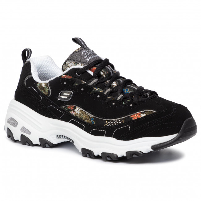 Espejismo trabajo duro Bienes  Sneakers SKECHERS - D'lites Floral Days 13082/BKW Black/White - Sneakers -  Low shoes - Women's shoes | efootwear.eu
