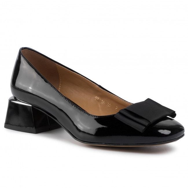 grano Tarjeta postal Discriminatorio  Shoes SAGAN - 3716 Czarny Lakier - Pumps - Low shoes - Women's shoes    efootwear.eu