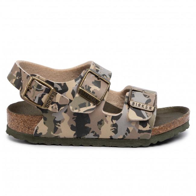 Birkenstock Blue Dino Camo Milano Kinder Sandals