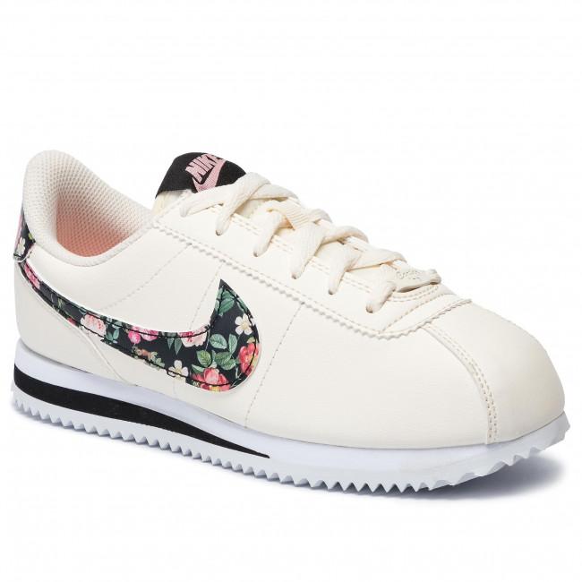 Shoes NIKE Cortez Basic Ltr Vf (GS) BQ5297 100 Pale IvoryBlackPink Tint