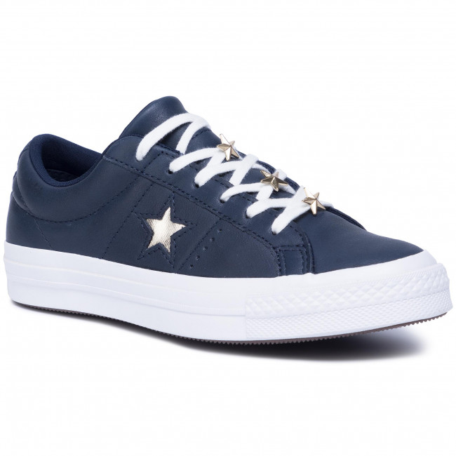 Plimsolls CONVERSE One Star Ox 165021C ObsidianLight GoldWhite