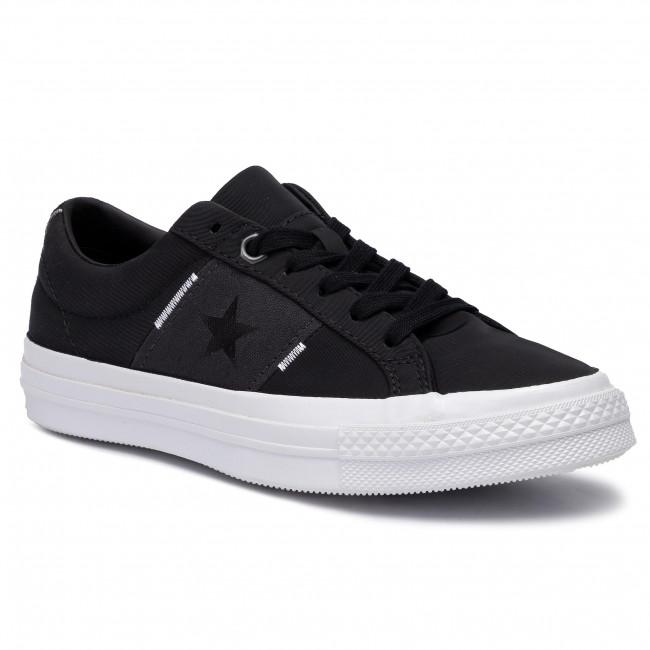 Converse One Star Canvas Ox BlackAlmost BlackWhite Size