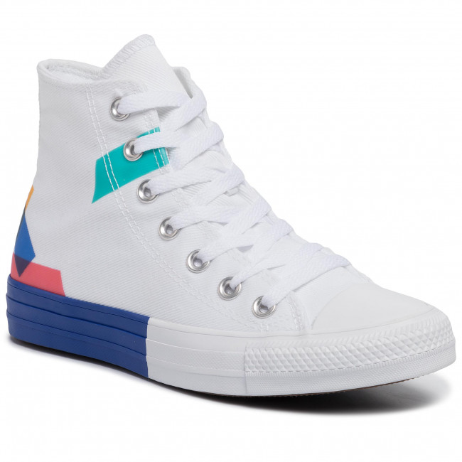 Sneakers CONVERSE Ctas Hi 165092C WhiteBlueEnamel Red