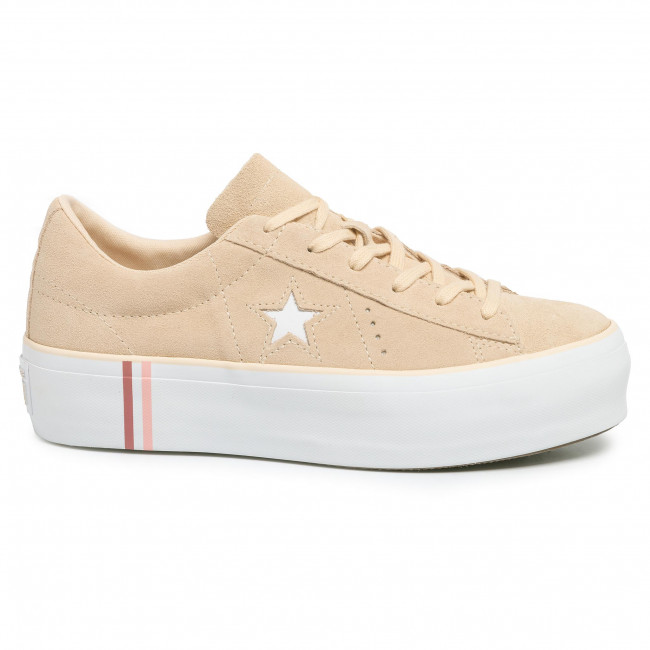 Sneakers CONVERSE One Star Platform Ox 565377C Light BisqueWhiteWhite