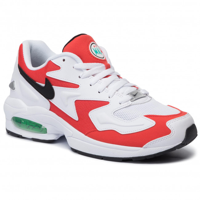 Shoes NIKE Air Max2 Light AO1741 101 WhiteBlackHabanero Red
