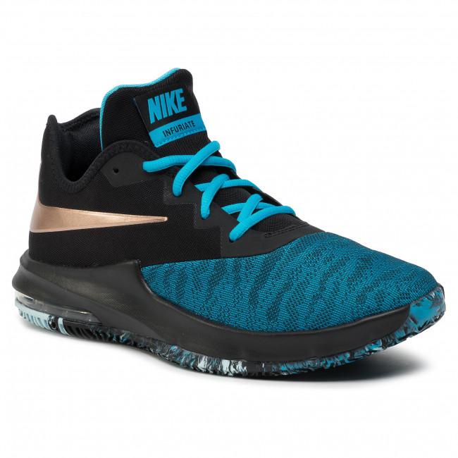 Shoes NIKE Air Max Infuriate III Low AJ5898 006 BlackMtlc Red Bronze