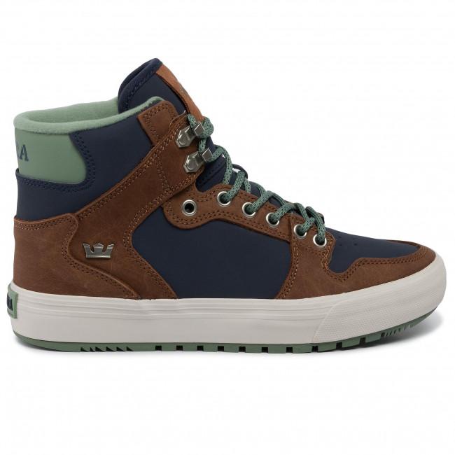 Bone Supra Vaider CW Shoes Navy Brown