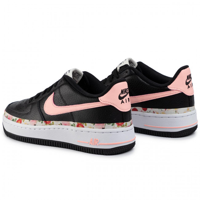 Shoes NIKE Air Force 1 Vf (Gs) BQ2501 001 BlackPink TintWhite