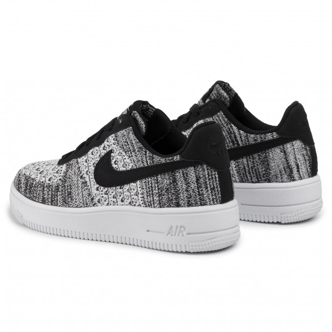 Shoes Nike - Air Force 1 Flyknit 2.0 (gs) Bv0063 001 Black/pure Platinum/white Sneakers Low Women's