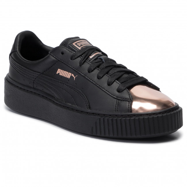 Puma Basket Platform Metallic Black Rose Gold Classic