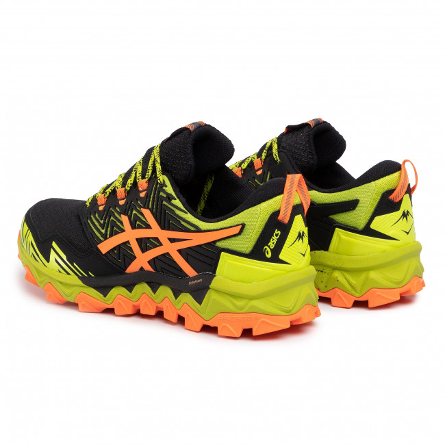 Shoes ASICS Gel FujiTrabuco 1011A668 Neon LimeShocking Orange 300