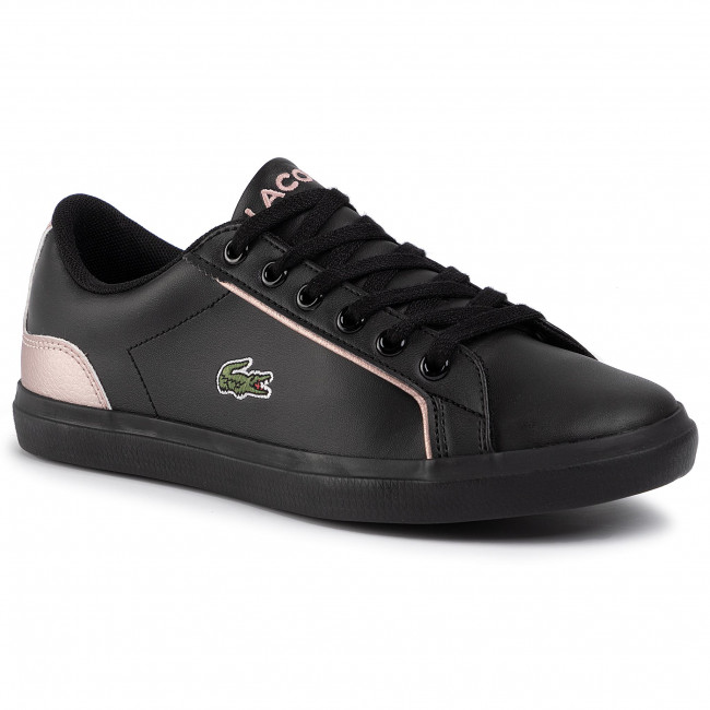 Black//Red Lacoste Riberac Leather Trainers Men/'s