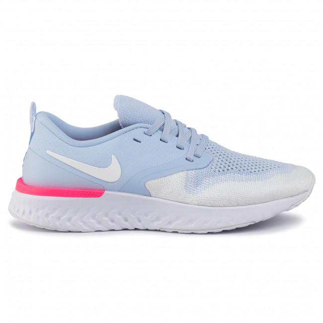 Shoes NIKE Odyssey React 2 Flyknit AH1016 401 Hydrogen BlueWhiyeHyper Pink
