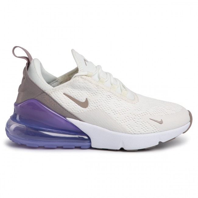Air Max 270 white and purple sneakers