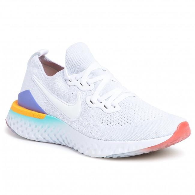 Shoes NIKE Epic React Flyknit 2 BQ8927 104 WhiteWhiteHyper Jade