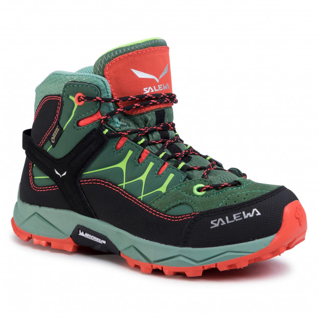 Trekker Boots SALEWA - Jr Alp Trainer Mid Gtx GORE-TEX 64006-5960 Myrtle/Tender Shot